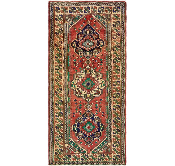 142cm x 300cm Shiraz Persian Runner Rug