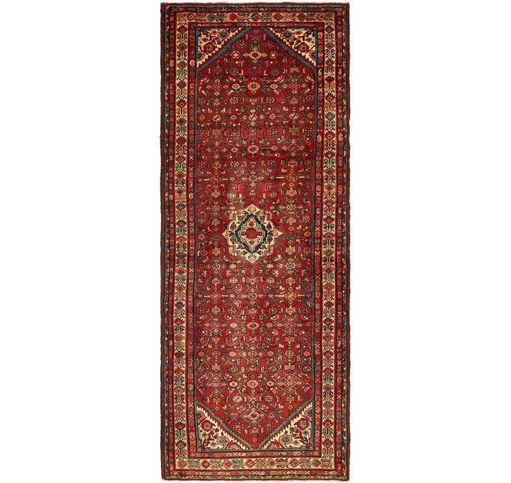 127cm x 343cm Hossainabad Persian Run...
