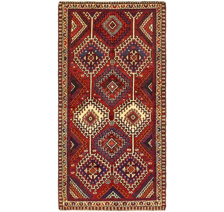 3' 6 x 7' 2 Shiraz Persian Runner Rug