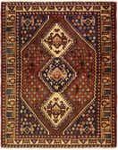 5' 2 x 6' 6 Shiraz Persian Rug thumbnail