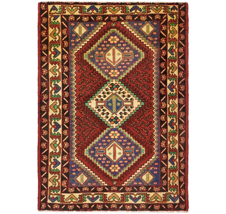 4' 10 x 6' 7 Shiraz Persian Rug