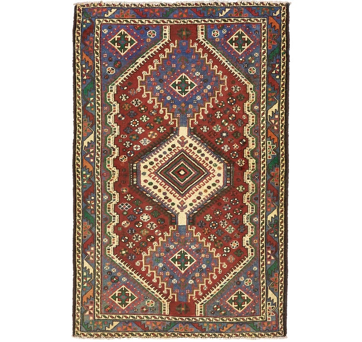 4' 2 x 6' 6 Shiraz Persian Rug