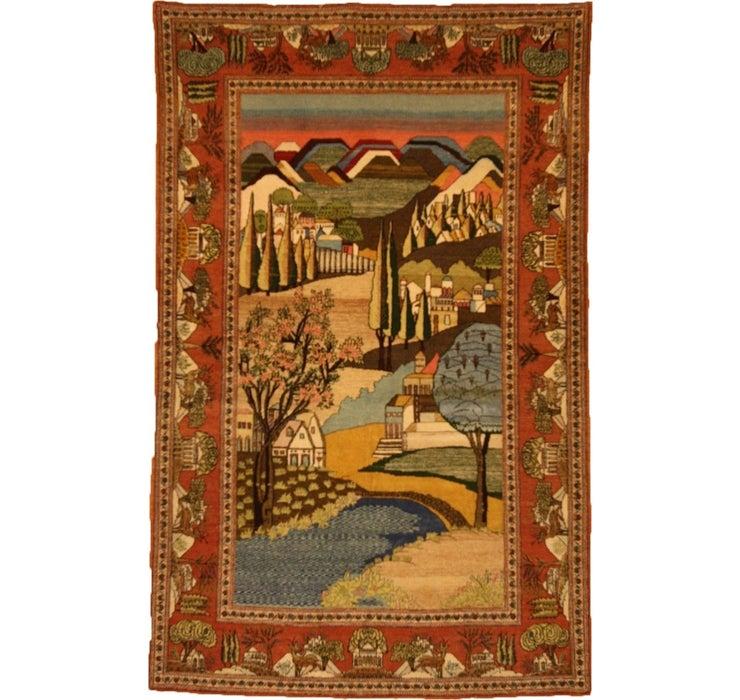 127cm x 205cm Kashan Persian Rug