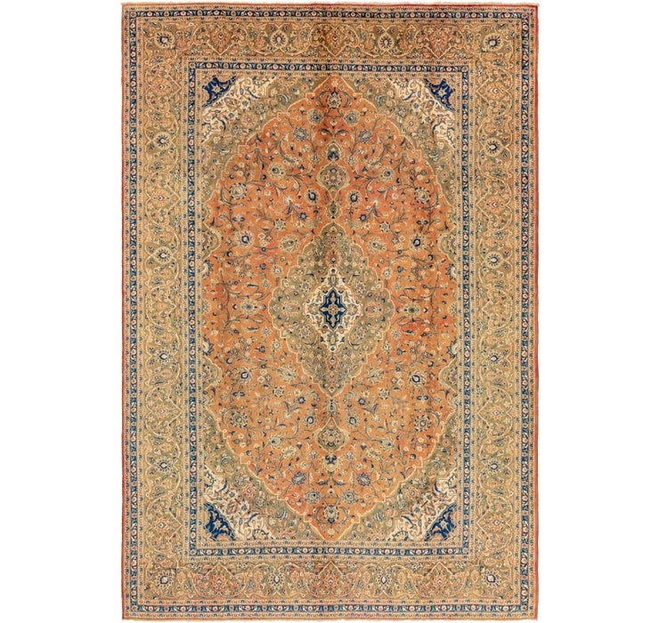 292cm x 437cm Kashan Persian Rug