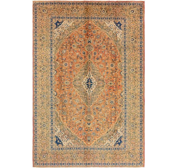 9' 7 x 14' 4 Kashan Persian Rug