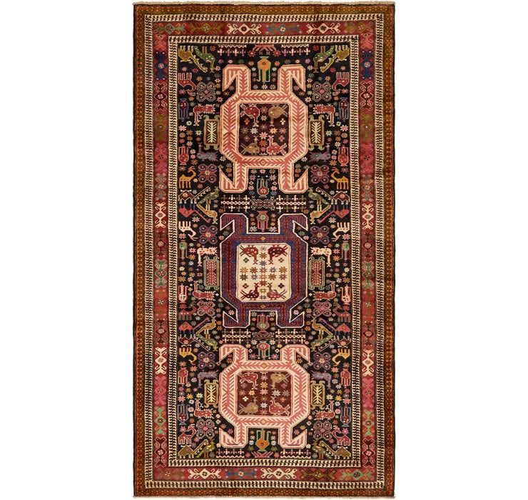 160cm x 305cm Saveh Persian Runner Rug