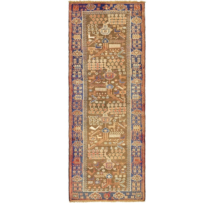 107cm x 285cm Saveh Persian Runner Rug