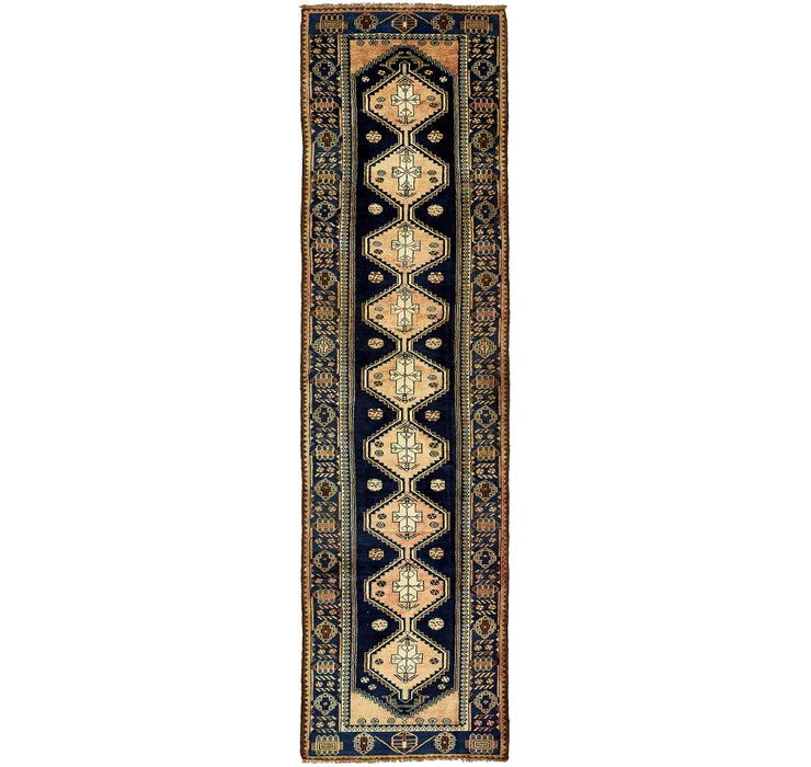 3' 6 x 13' 9 Saveh Persian Runner Rug