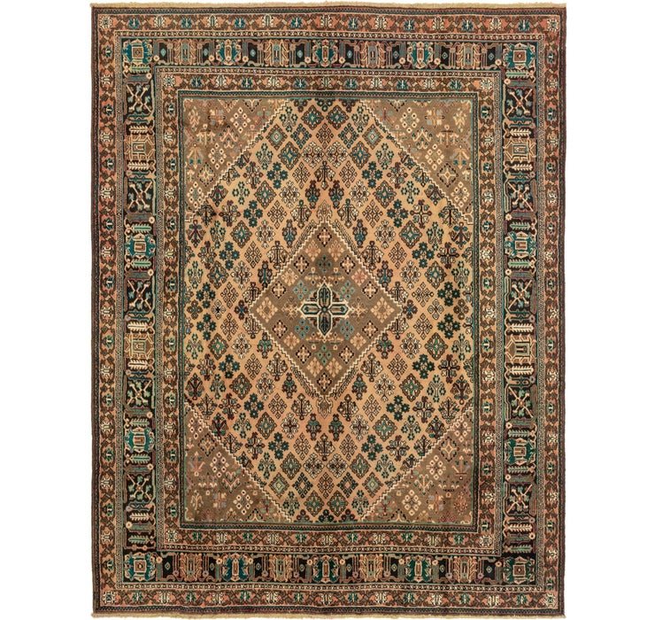 10' 1 x 13' 2 Joshaghan Persian Rug