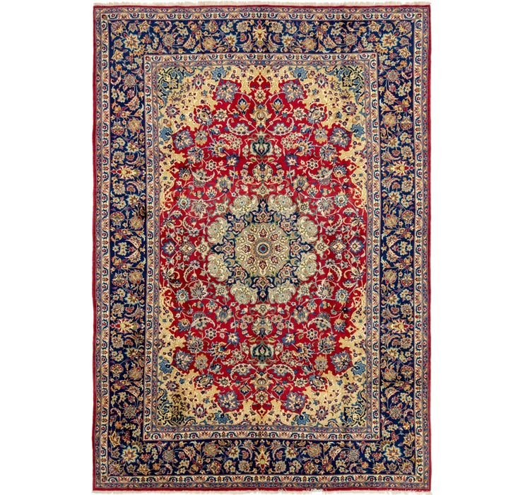 9' 6 x 13' 5 Isfahan Persian Rug