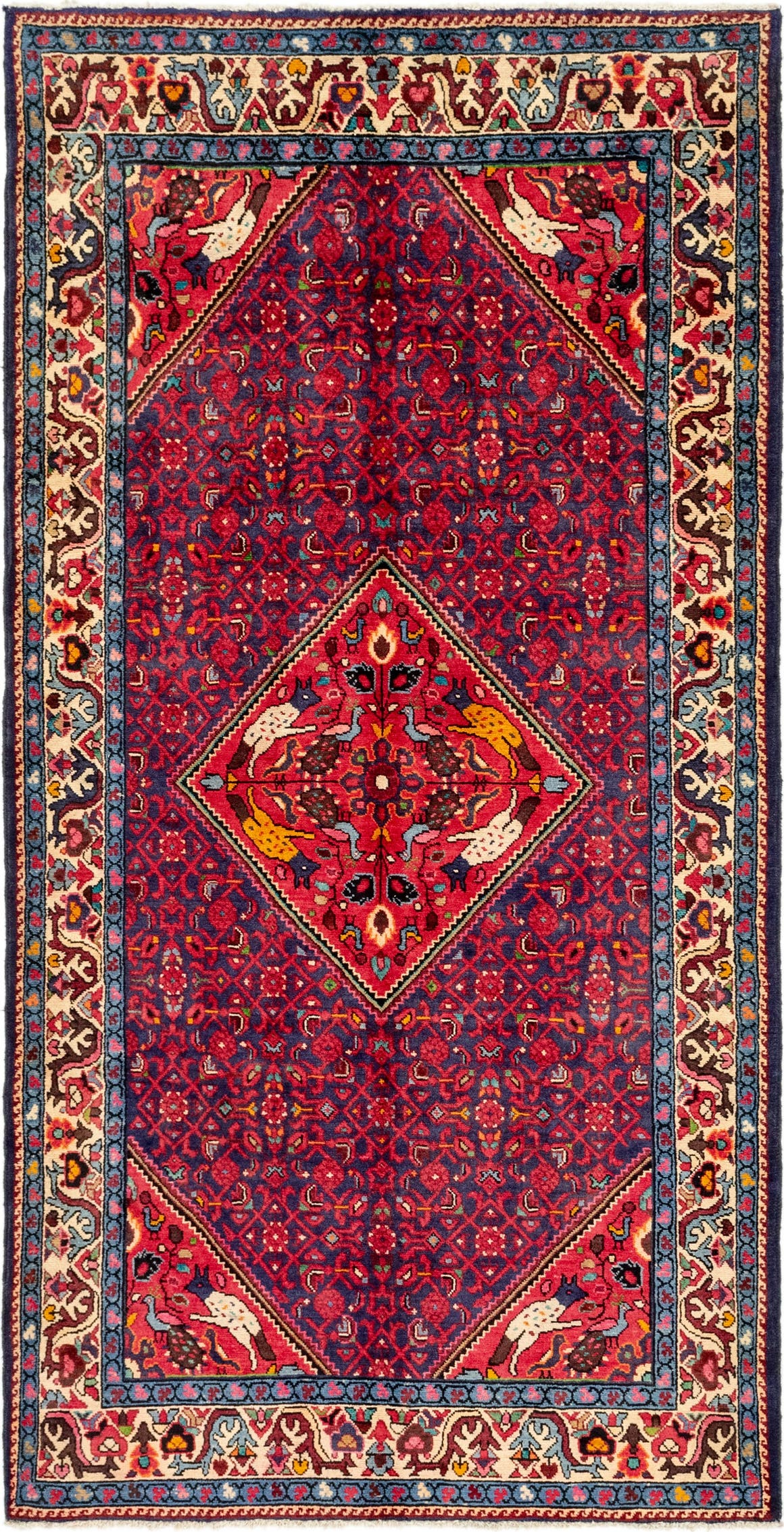 5' 2 x 10' 4 Hossainabad Persian Runner Rug main image