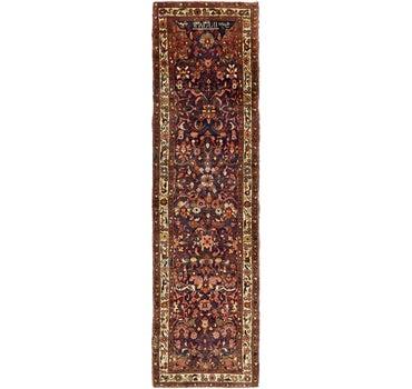 3' 4 x 12' 1 Hamedan Persian Runner Rug main image
