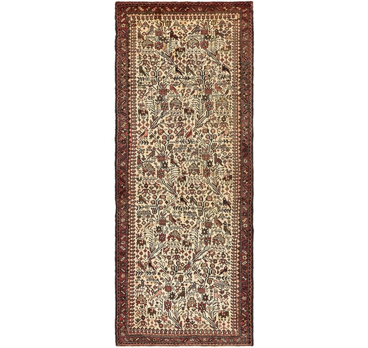 3' 10 x 10' 4 Roodbar Persian Runner ...