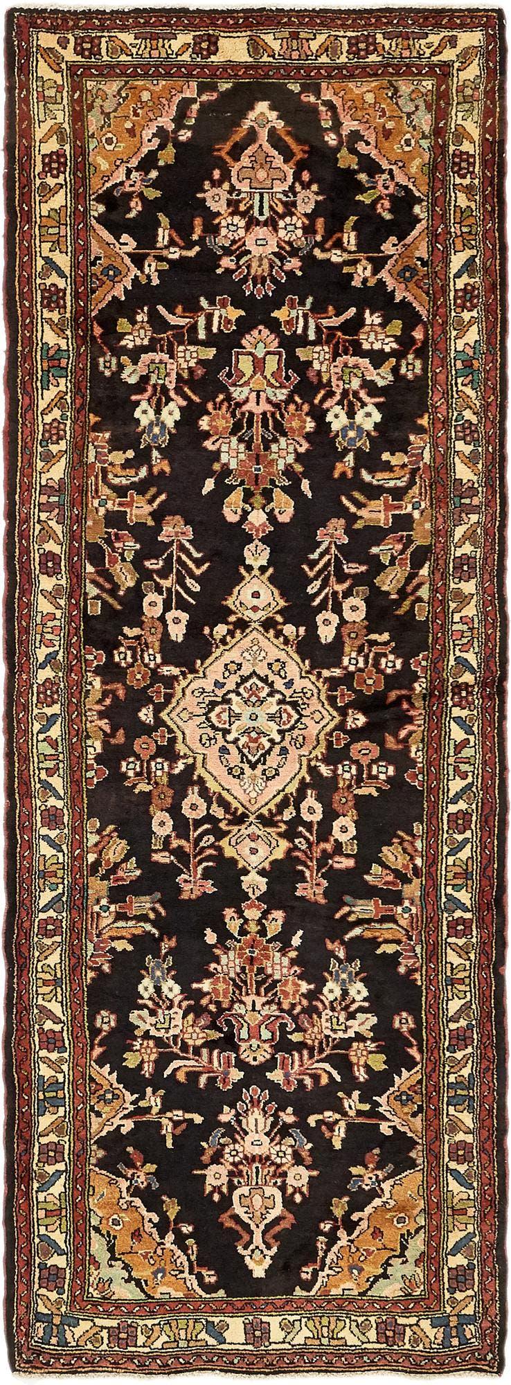 3' 5 x 9' 7 Khamseh Persian Runner Rug main image