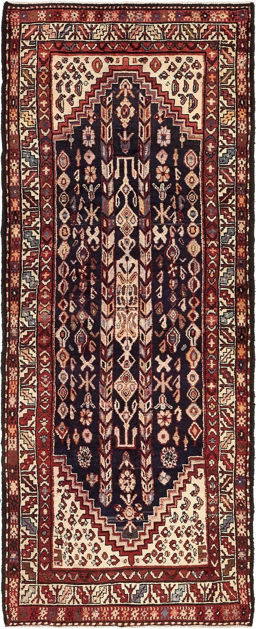 3' 7 x 9' 1 Hamedan Persian Runner Rug main image