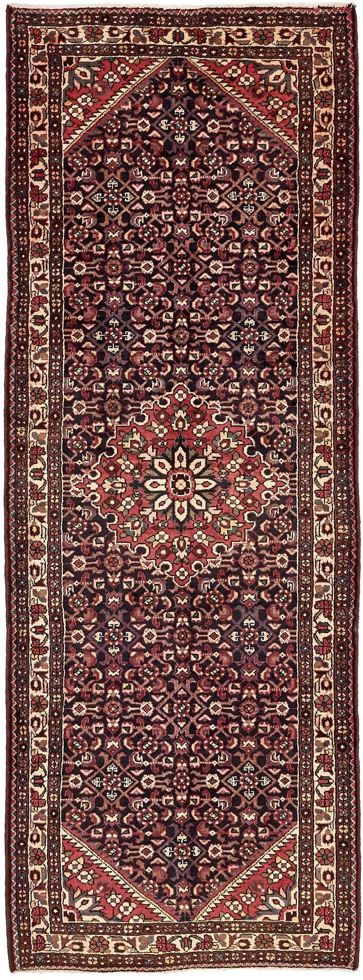 3' 7 x 10' 1 Hossainabad Persian Runner Rug main image