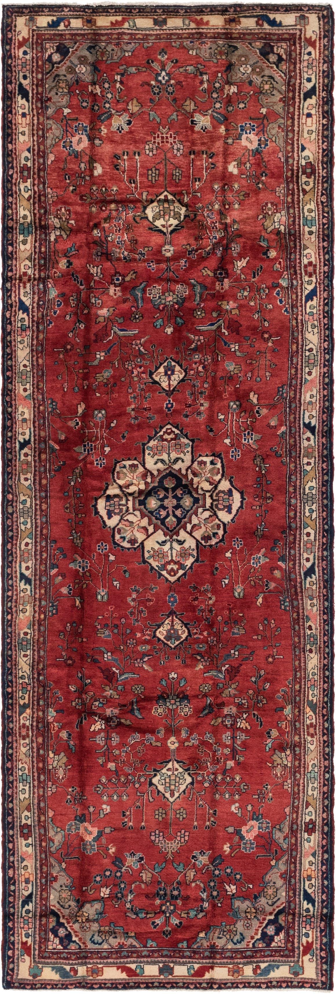 Red  4' 6 x 14' Khamseh Persian Runner