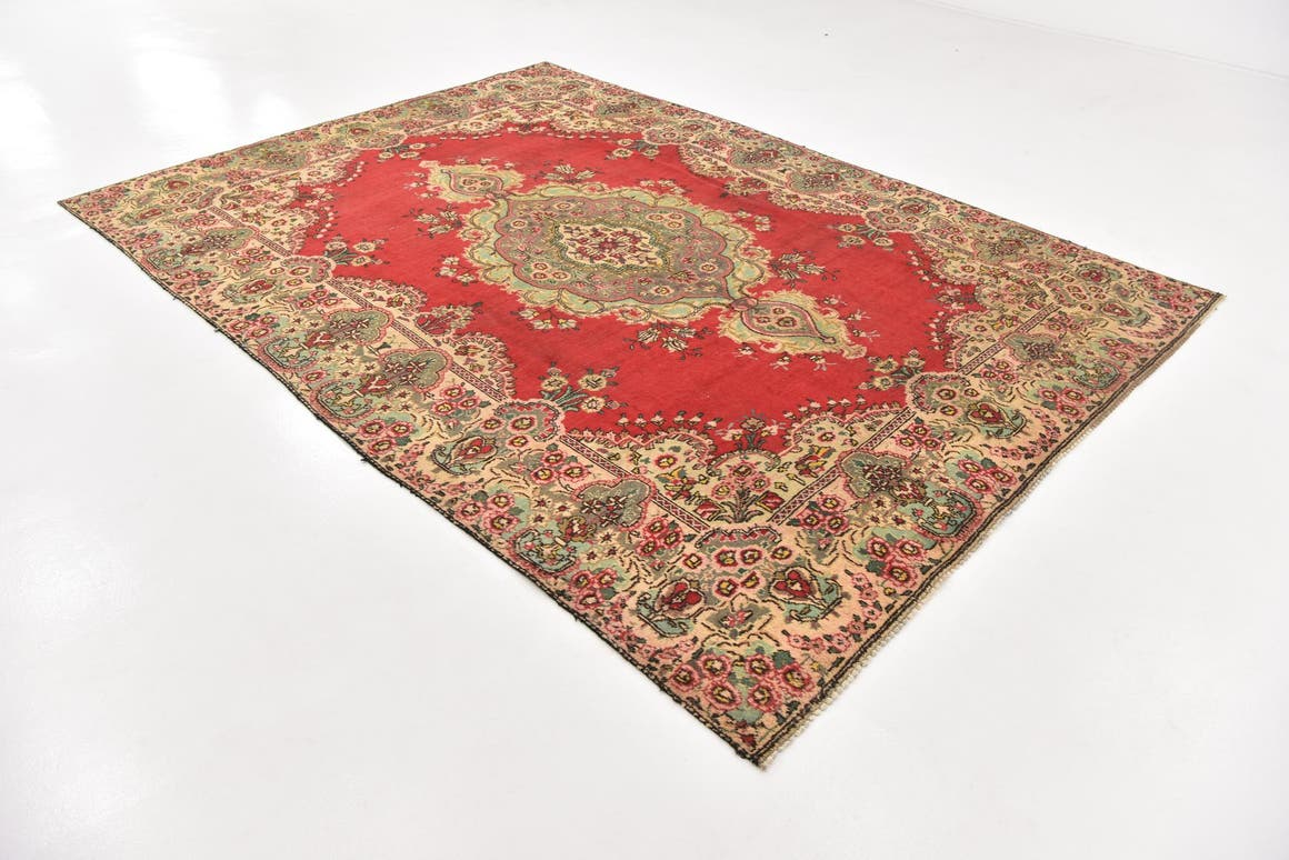 Red  7' 9 x 11' Tabriz Persian