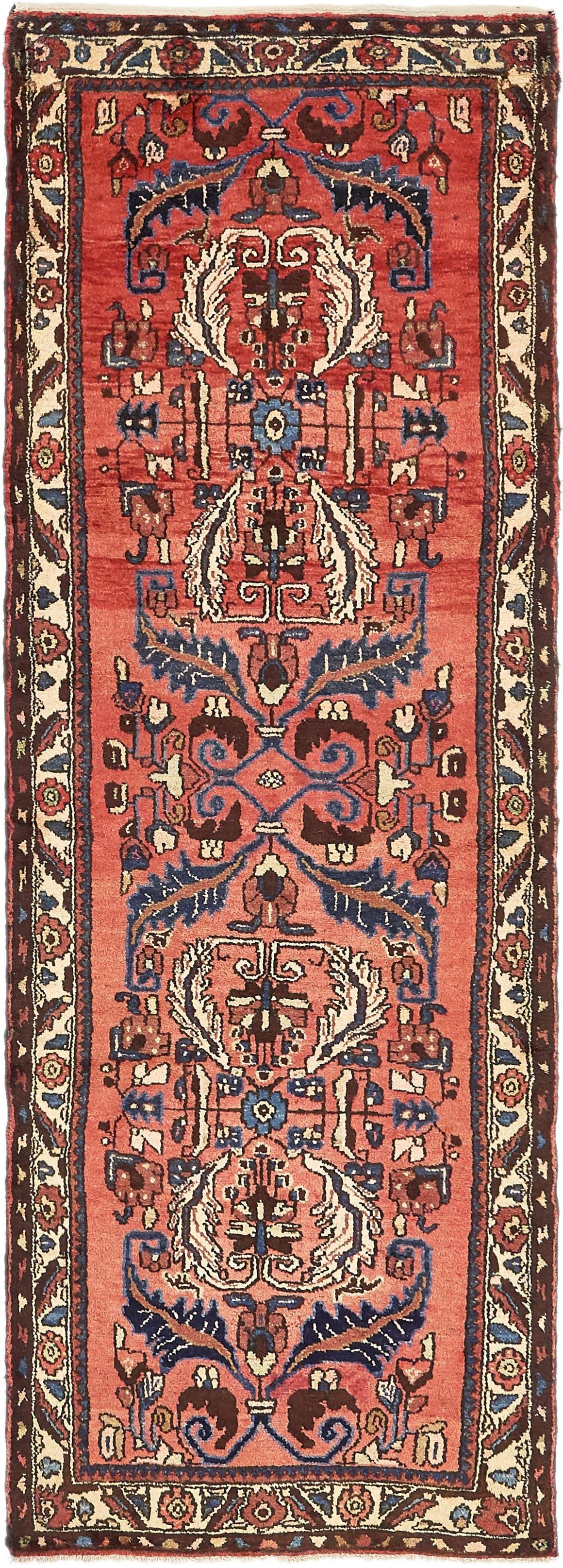 3' 4 x 9' 10 Hamedan Persian Runner Rug main image