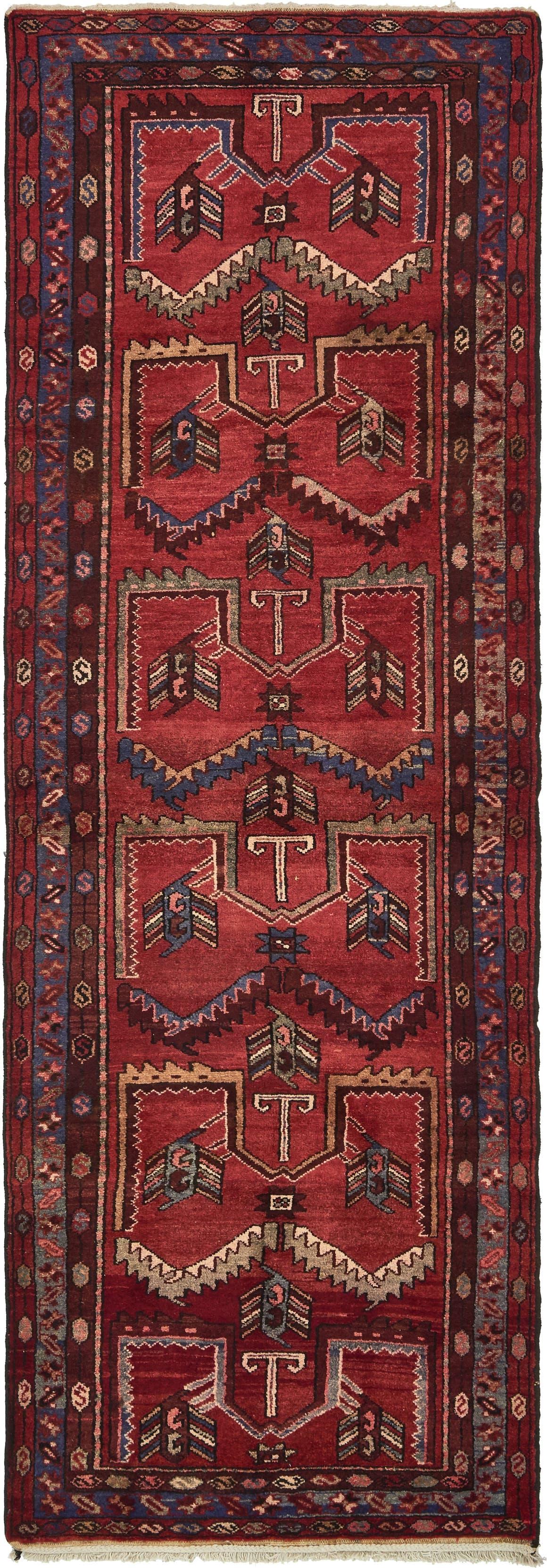 3' 5 x 10' 2 Hamedan Persian Runner Rug main image