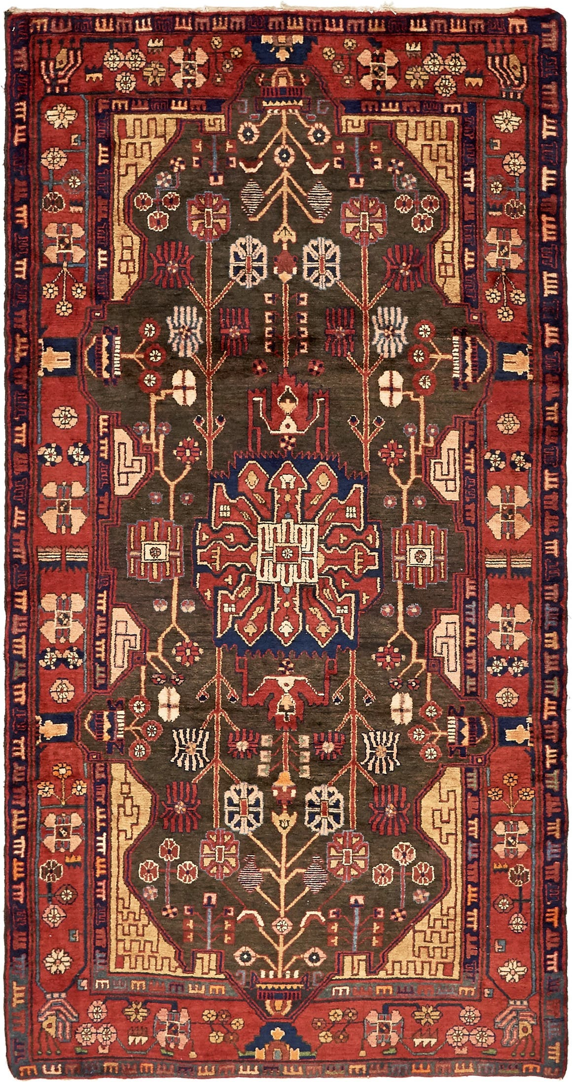 4' 11 x 9' 7 Nahavand Persian Rug main image
