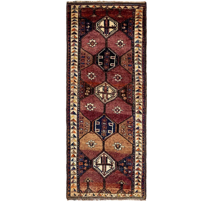 Image of 150cm x 350cm Shiraz Persian Runner Rug