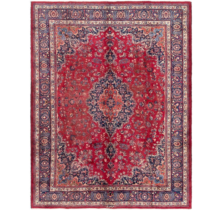 305cm x 385cm Mashad Persian Rug