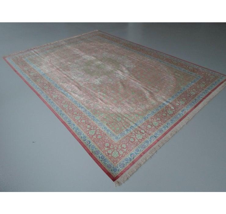 Image of 8' 2 x 11' 2 Qom Persian Rug