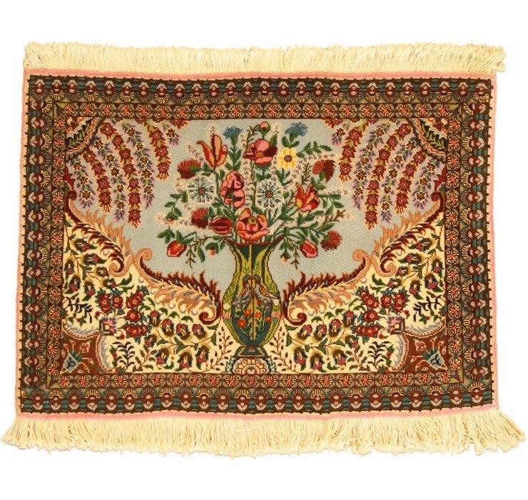 60cm x 85cm Tabriz Persian Rug