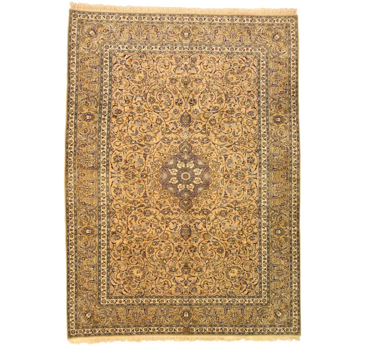 257cm x 353cm Kashan Persian Rug