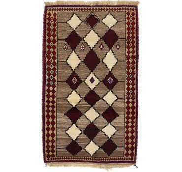Image of 3' 7 x 6' Ghashghaei Persian Rug