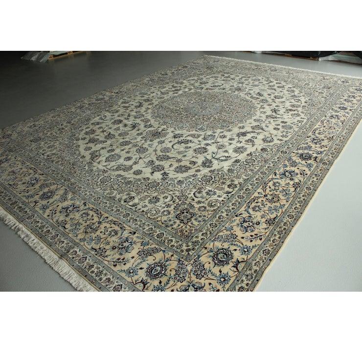 390cm x 485cm Nain Persian Rug