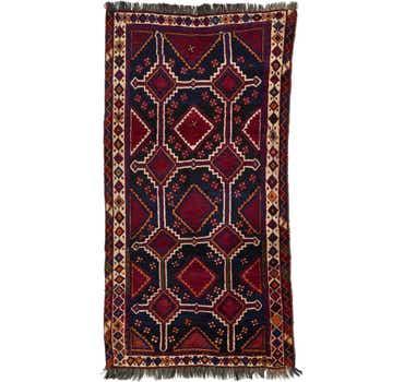 3' 10 x 7' Ghashghaei Persian Runn...