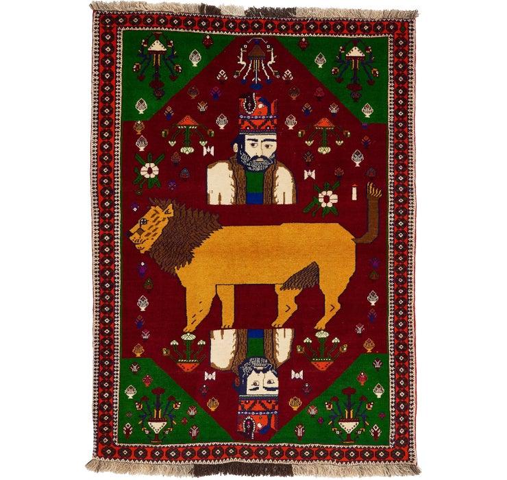 4' 2 x 5' 9 Ghashghaei Persian Rug