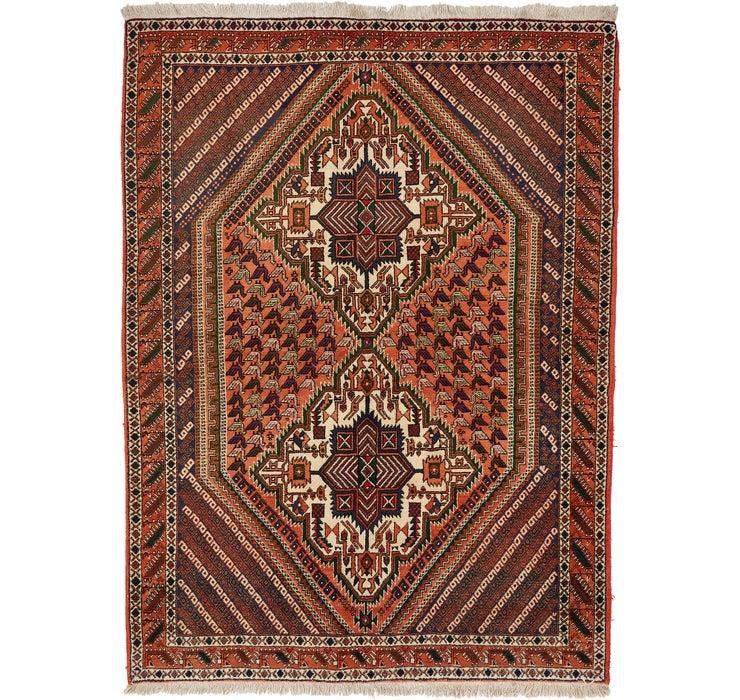 5' x 6' 9 Sirjan Persian Rug
