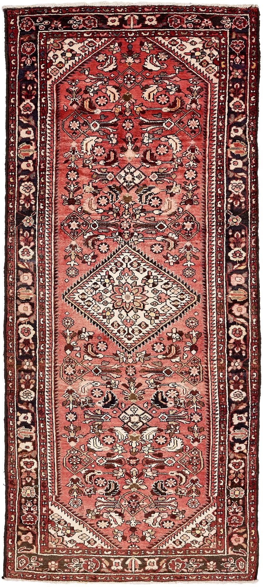 4' 4 x 10' 3 Hossainabad Persian Runner Rug main image