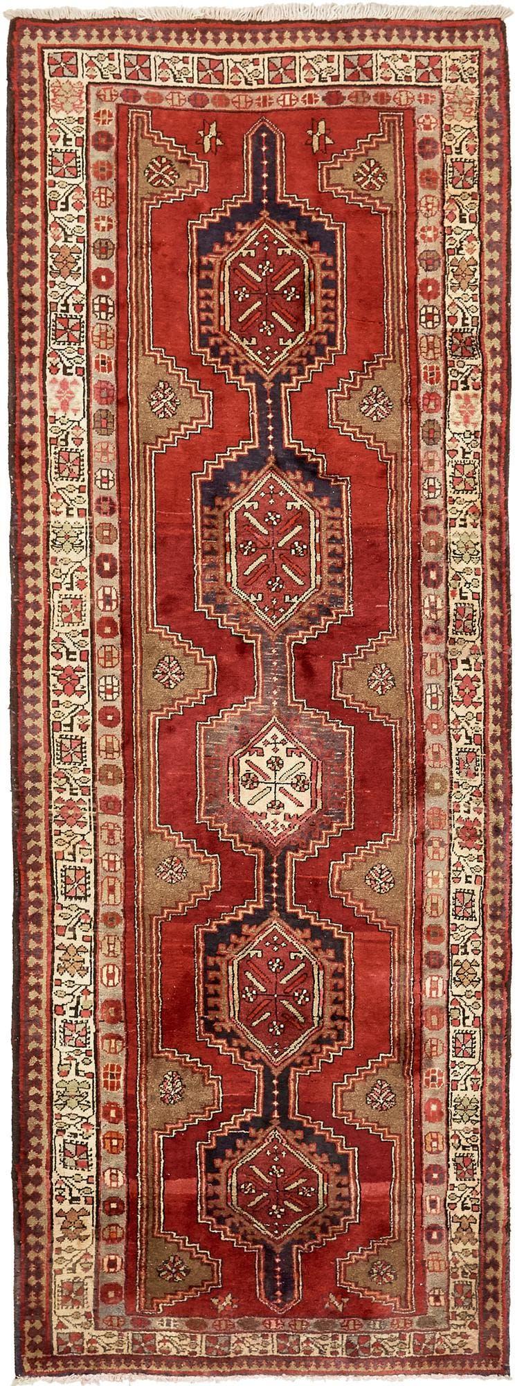 4' 2 x 11' Meshkin Persian Runner Rug main image