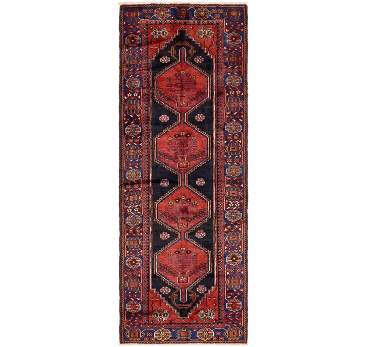 Image of 3' 6 x 9' 10 Zanjan Persian Runner Rug