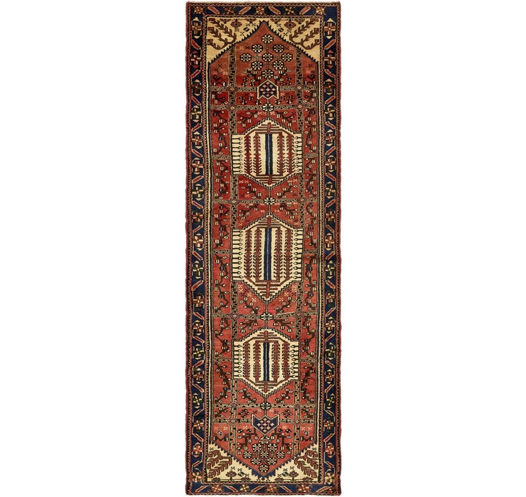 117cm x 390cm Saveh Persian Runner Rug