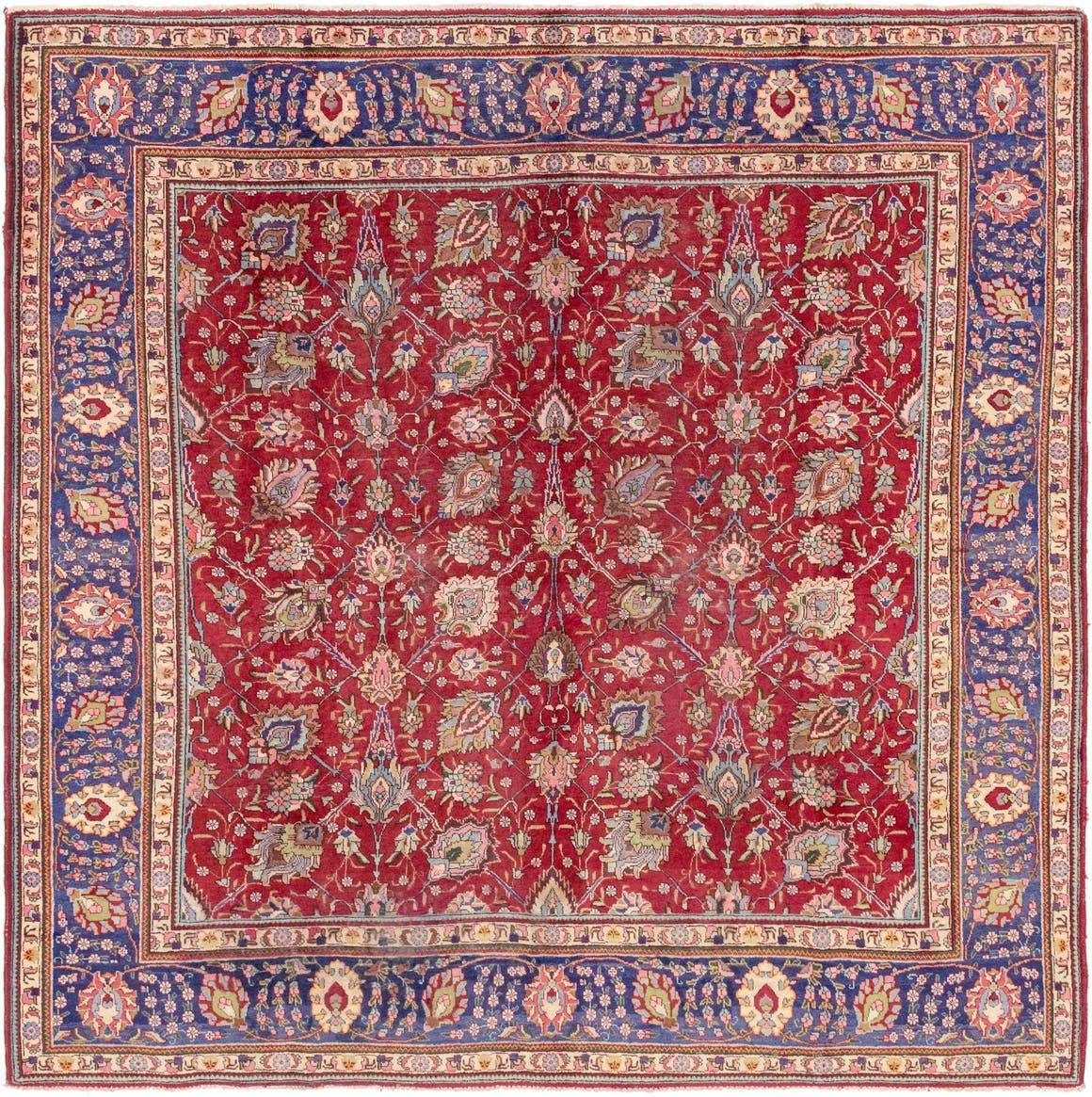 10' x 10' 2 Tabriz Persian Square Rug main image