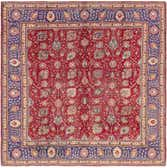 10' x 10' 2 Tabriz Persian Square Rug thumbnail