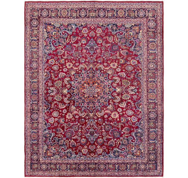 295cm x 370cm Mashad Persian Rug