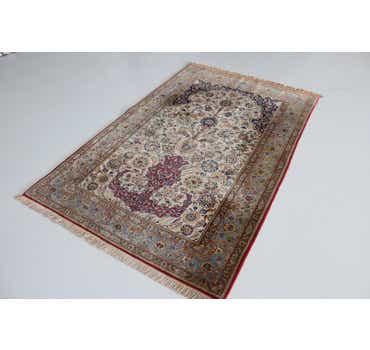 Image of 4' 6 x 7' 1 Qom Persian Rug