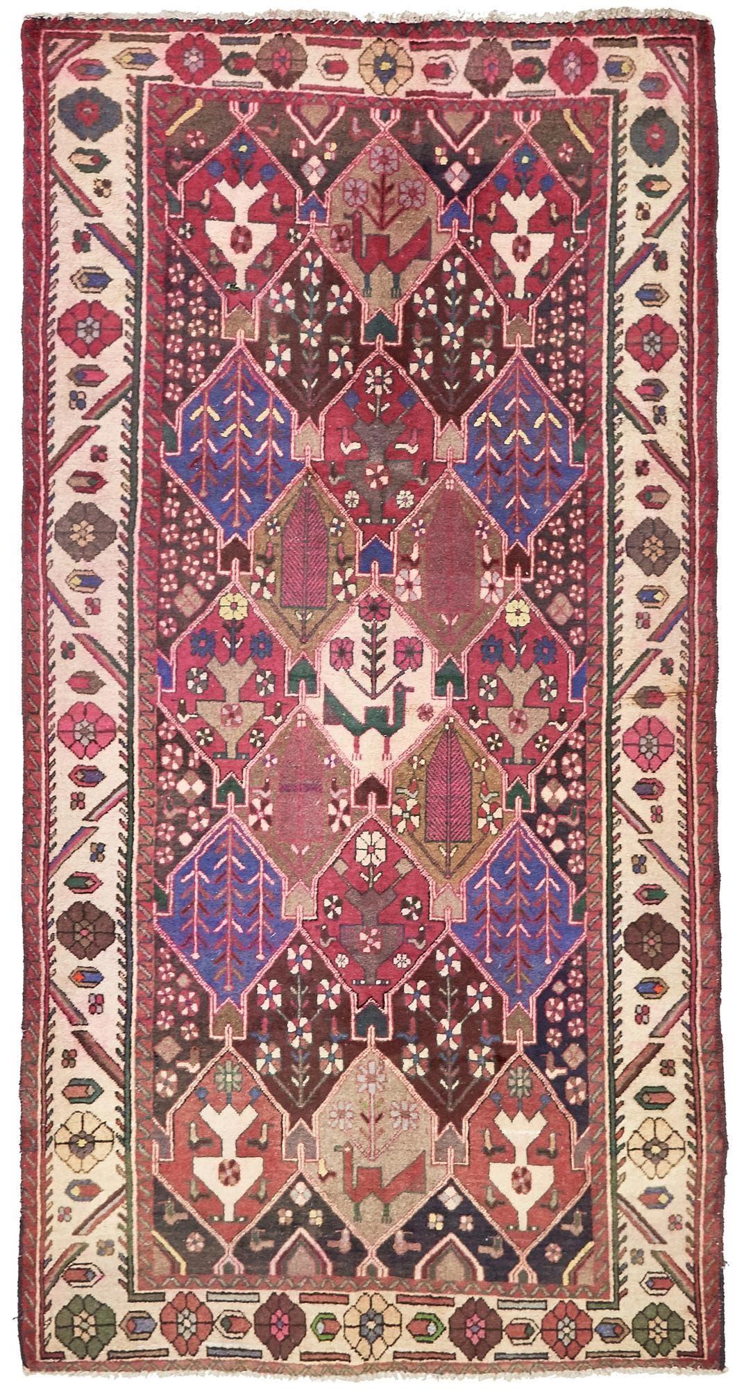 5' 1 x 10' Bakhtiar Persian Runner Rug main image