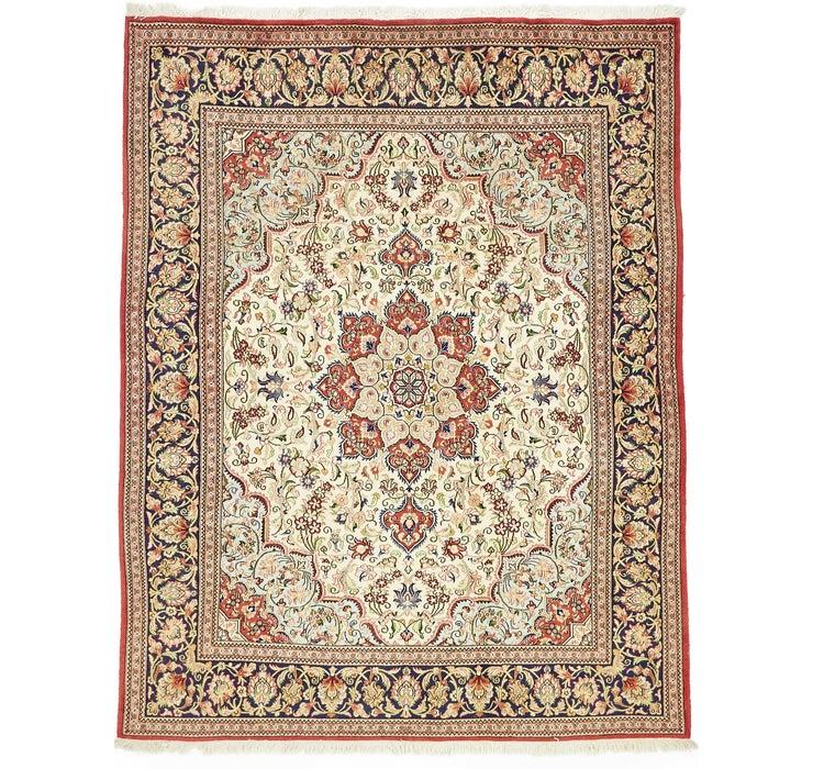 193cm x 245cm Qom Persian Rug