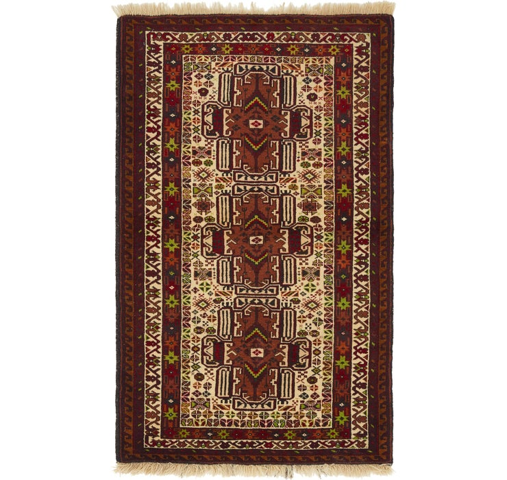 90cm x 147cm Balouch Oriental Rug