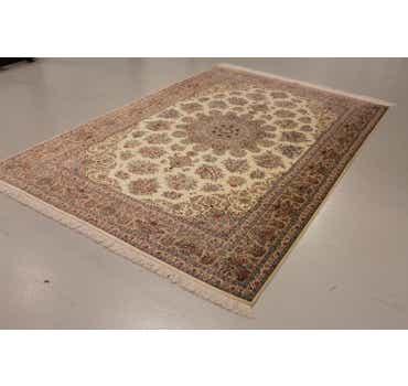 Image of 6' 6 x 9' 10 Qom Persian Rug