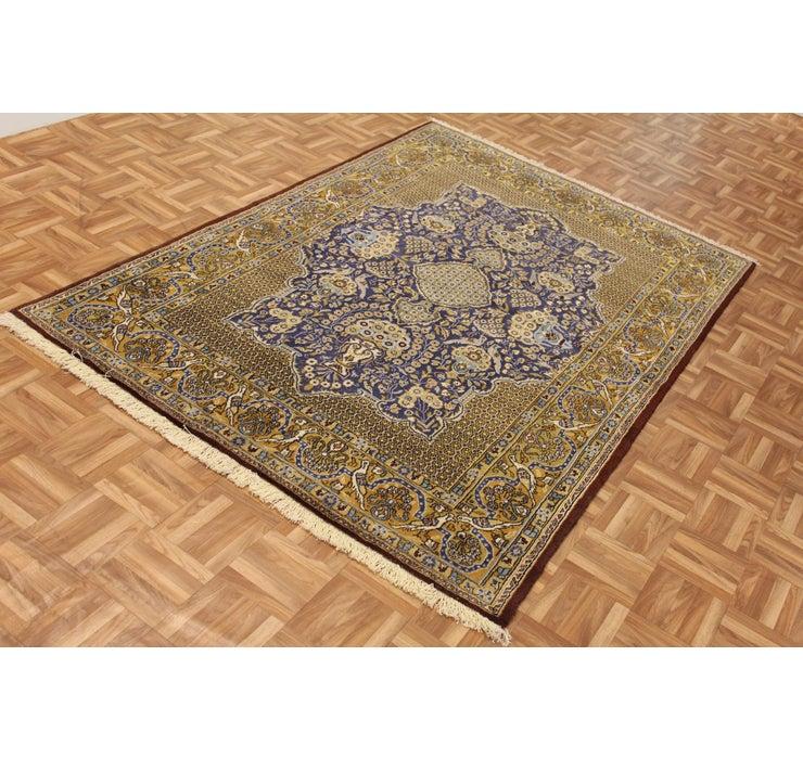 Image of 4' 7 x 6' 10 Qom Persian Rug