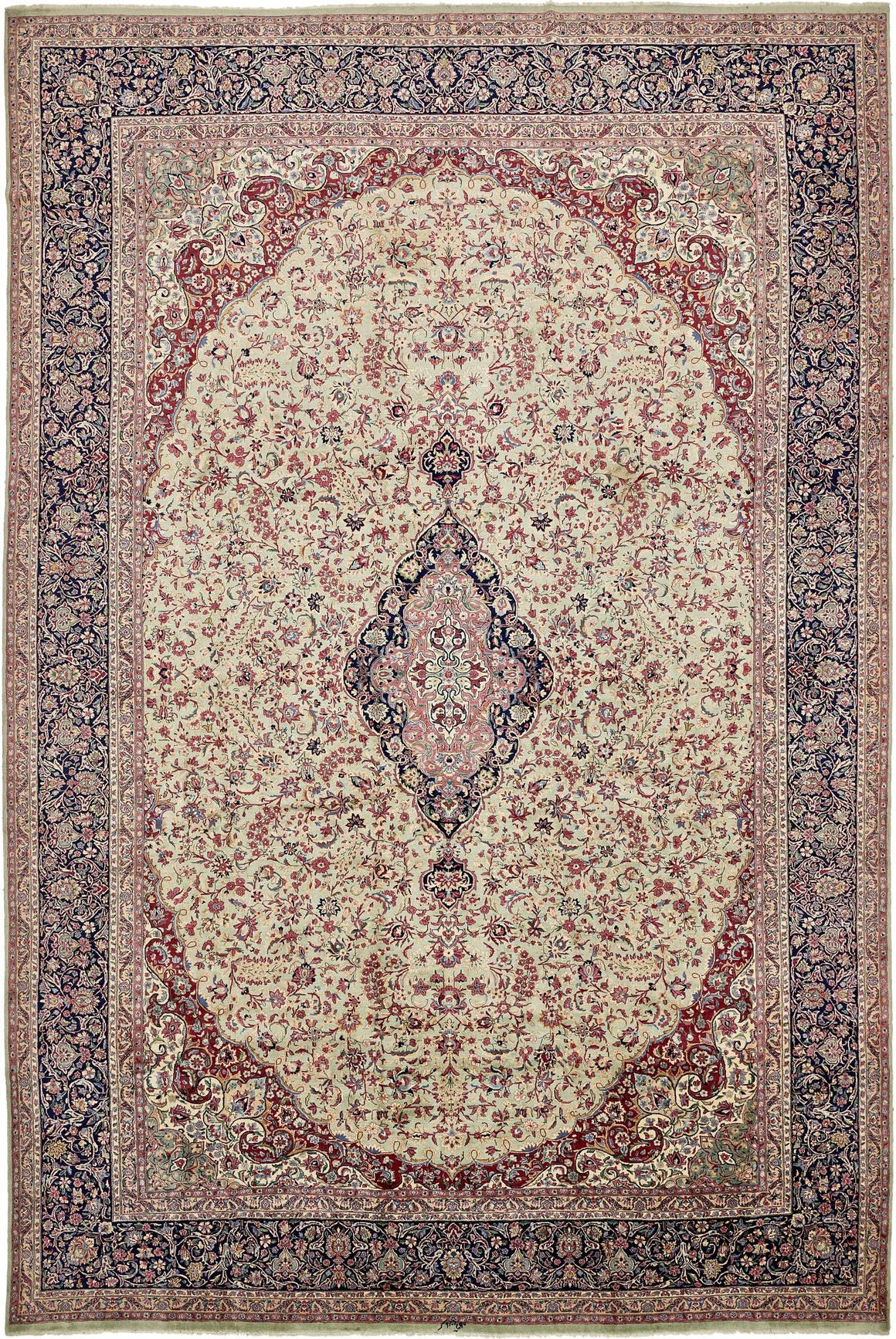 12' 11 x 19' 2 Kerman Persian Rug main image
