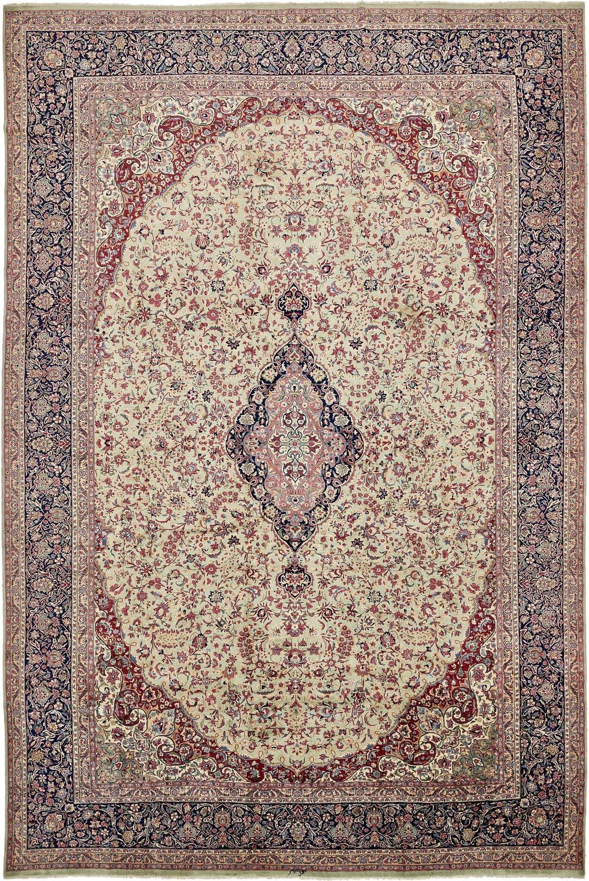 395cm x 585cm Kerman Persian Rug main image